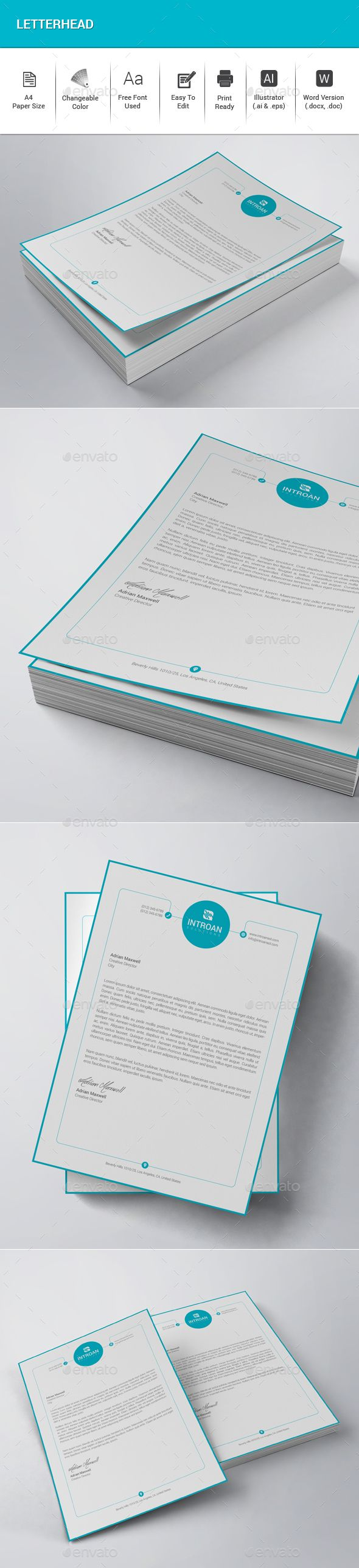25 best ideas about Letterhead Design – Stationery Templates for Designers