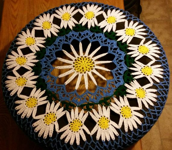 Daisy Crochet Spare Tire Cover by WhyNotCrafts on Etsy