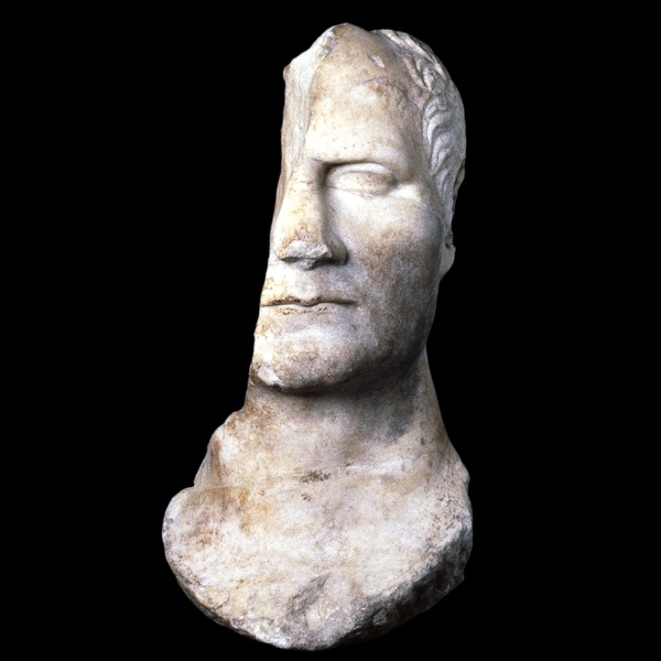 Bust, c AD50, from the Sanctuary of Athena in Priene, perhaps Julius Caesar