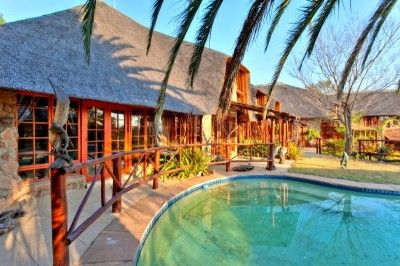 Hear the Lion Roar and the Trumpeting of the Mighty Elephant… This African Thatch Lodge in the heart of Gauteng, the economic hub of Africa is only minutes away from Sandton City, Monte Casino, Lanseria International Airport and the Gautrain