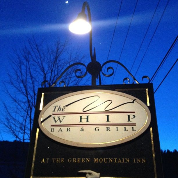 Traditional American and New England Cuisine with several vegetarian offerings.  Good, homemade desserts.  Cozy, casual atmosphere.  The name comes from their collection of antique buggy whips.  Located inside the Green Mountain Inn.  Reservations:  802-523-7301