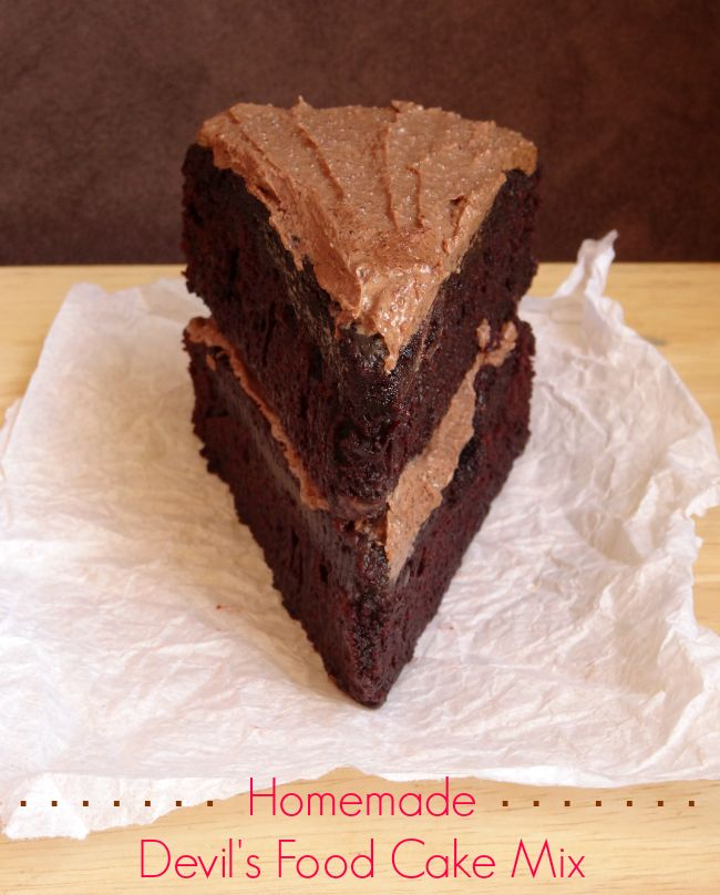 DIY Homemade Devil's Food Cake Mix - make your own rich and decadent chocolate cake from scratch with this recipe. It's so much better than the boxed stuff! | www.pinkrecipebox.com