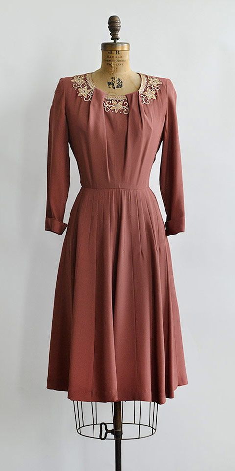 vintage 1950s Gloria Swanson dress / Love of Sunya Dress from Adored Vintage