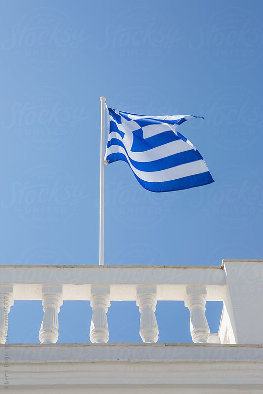 Greece flag in the wind