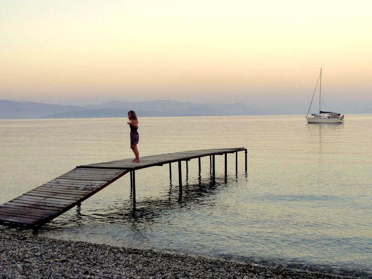 Sunset at Ipsos Beach, Corfu