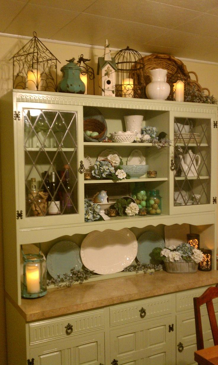 33 best hutch displays images on pinterest hutch ideas kitchen