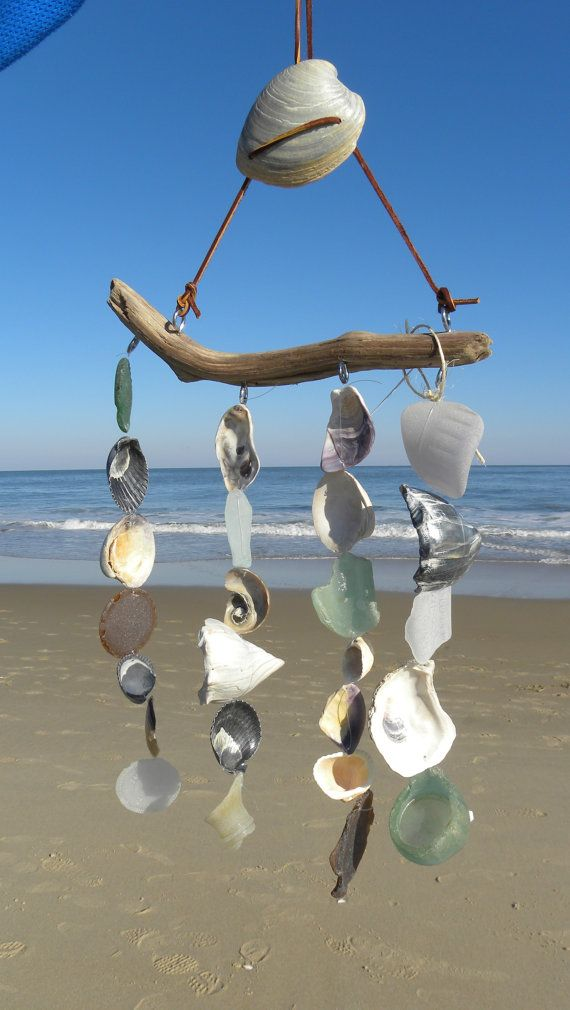 Beach Glass Mobile Sea Glass Wind Chime by somethingfromthesea, $65.00