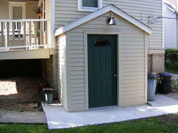 outside basement entrance door