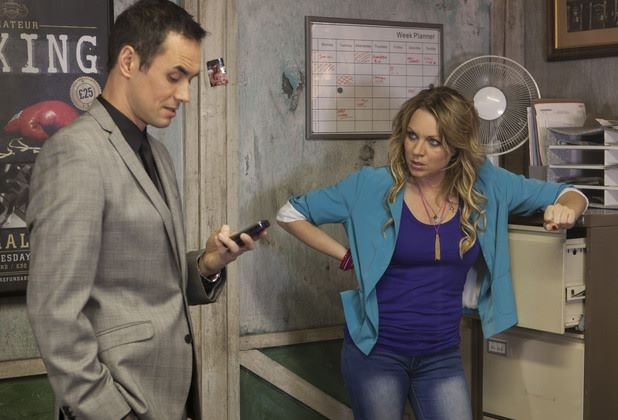 Michael Moon and Roxy Mitchell played by Steve John Shepherd and Rita Simons, respectively.