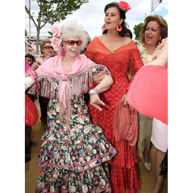 the Duchess of Alba in Seville-she seems cray cray and this is probably how I'm going to be when i age