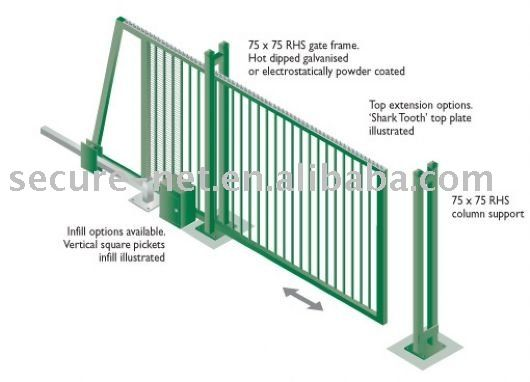 Best sliding gate ideas on pinterest fence