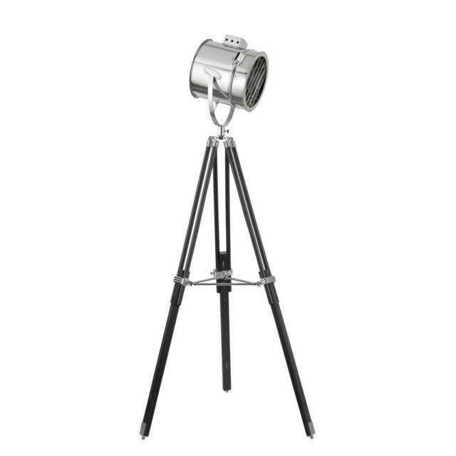 EU5015 Searchlight - lampa na stojane - čierno-chrómová