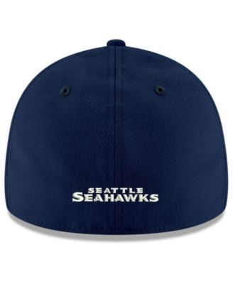 New Era Seattle Seahawks Team Basic Low Profile 59FIFTY Fitted Cap - Navy/Navy 7 3/8