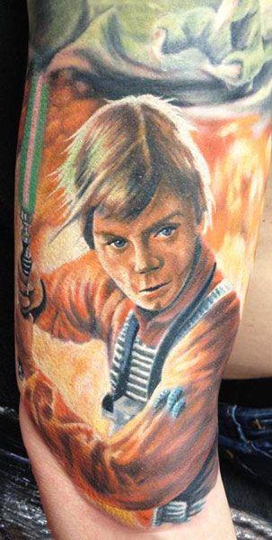 83 best star wars ink images on pinterest star wars for Luke skywalker tattoo