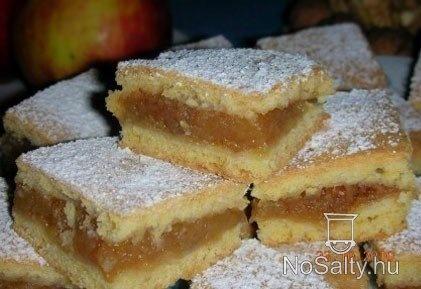 Szabolcsi olcsó almás porlós Mártika és Feri konyhájából  http://www.nosalty.hu/recept/szabolcsi-olcso-almas-porlos-almas-pite-8