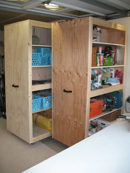 Mobile Garage Storage Cabinets from the Kreg Owners' Community (kregjig.ning.com)