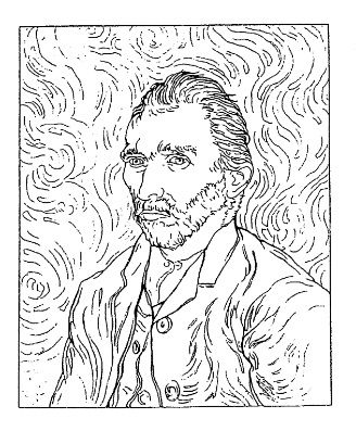 van gogh rubber stamps | Frantic Stamper Cling-Mounted Rubber Stamp - Van Gogh Self Portrait