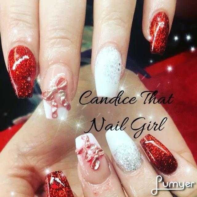 # acrylic nails 3D nails