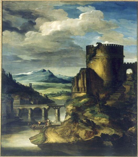 Théodore Géricault. Paysage au tombeau. Vers 1818. Huile sur toile. H. : 250 ; L. : 220 cm.