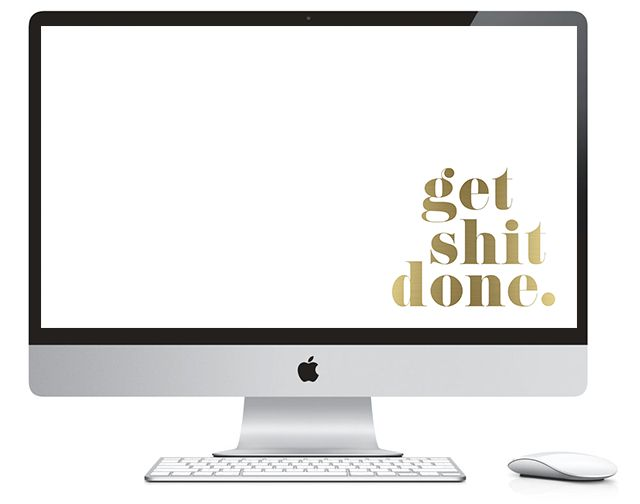 Free glam desktop wallpapers - 3 to choose from! Need some motivation to get shit done? :)