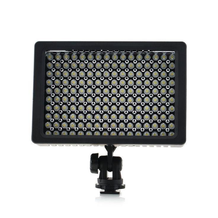 1 zestaw Kamera HD 160 LED Lampa Wideo Lampa 1280LM 5600 K/3200 K Ściemniania dla Canon nikon Kamera Wideo Kamery w   cechy:160-LED światła dla optymalnego oświetlenia i dyfuzor.obróć przełącznik on/off i regulacji jasności. od Oświetlenie fotograficzne na Aliexpress.com | Grupa Alibaba