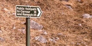 Signpost at Glen Nevis, 1975