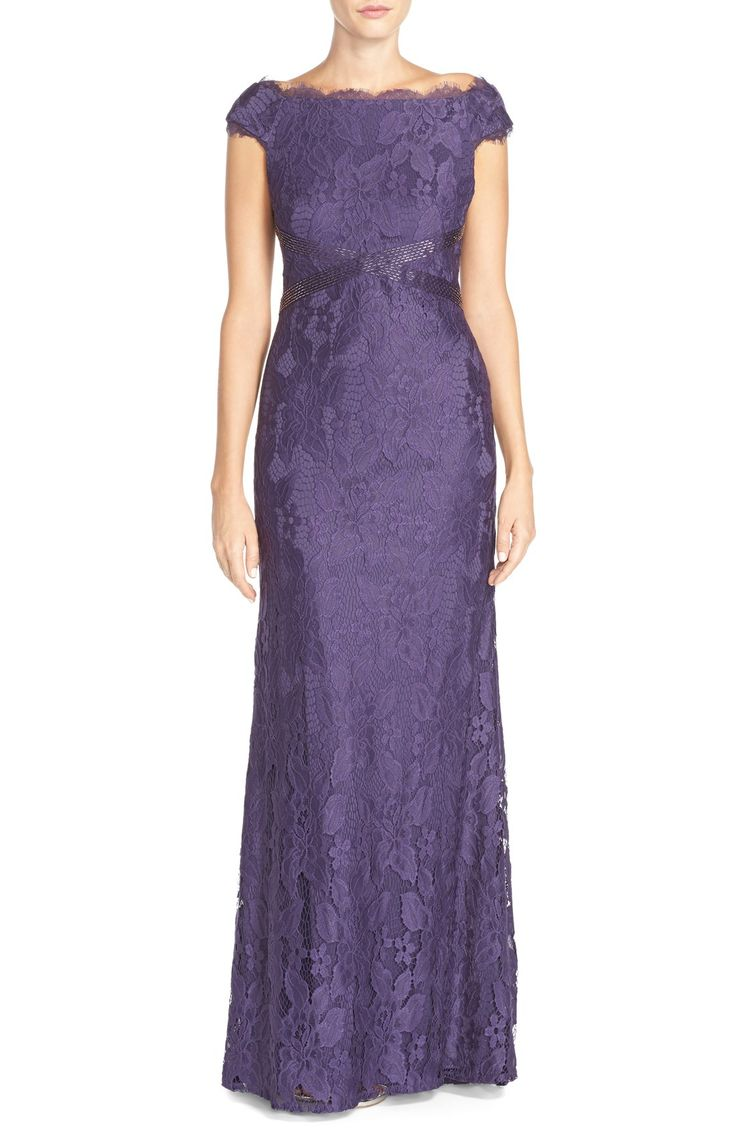 Adrianna Papell Off The Shoulder Lace Gown | Nordstrom