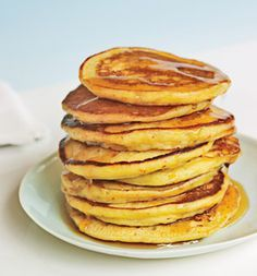 Gwyneth Paltrows world-famous pancakes. Make batter the night before.