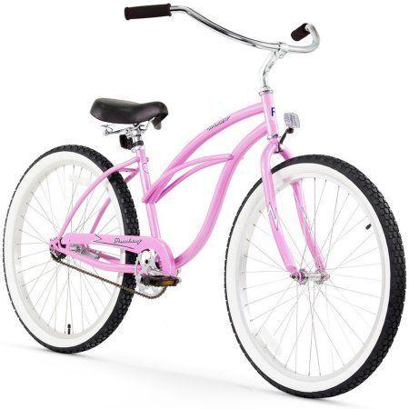 26 inch Firmstrong Urban Lady Single Speed Women's Beach Cruiser Bike, Pink