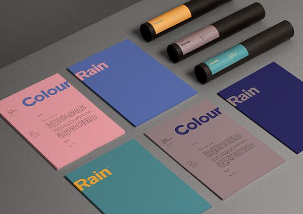 Visual & Brand Identity - Colour Rain, Denmark by Nicolas Fuhr, via Behance