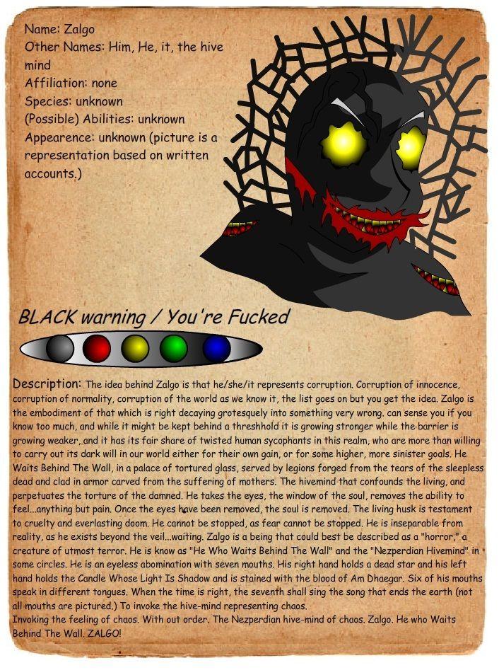 creepypasta profiles   ... - Journal entry zalgo by shadowgerbil-d4cu0yb.jpg - Creepypasta Wiki