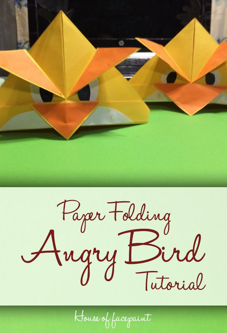 For Angry bird Inspired birthday party this DIY - Paper Folding Angry Bird will…