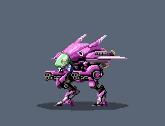 Dva Idle2 by Z-studios #animation #pixelart