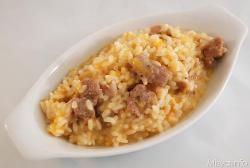 » Risotto zucca e salsiccia - Ricetta Risotto zucca e salsiccia - Ricetta di Misya