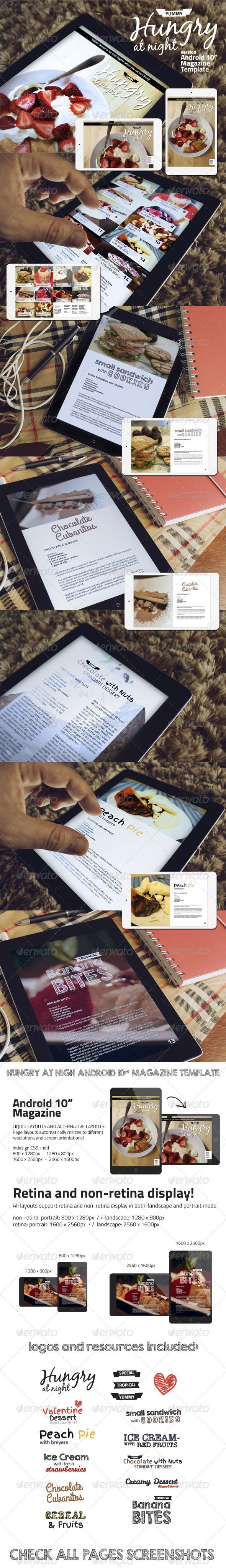 Hungry At Night Android Magazine Template #design Download: http://graphicriver.net/item/-hungry-at-night-android-magazine-template-/7014677?ref=ksioks