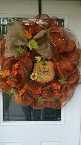 Fall Deco Mesh Wreath                                                       …