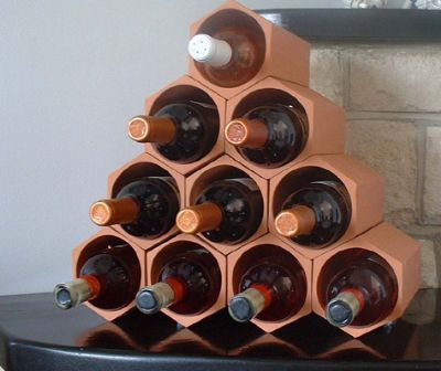 15 best images about wine racks on pinterest bottle shape and wine rack uses - Wine rack shaped like wine bottle ...