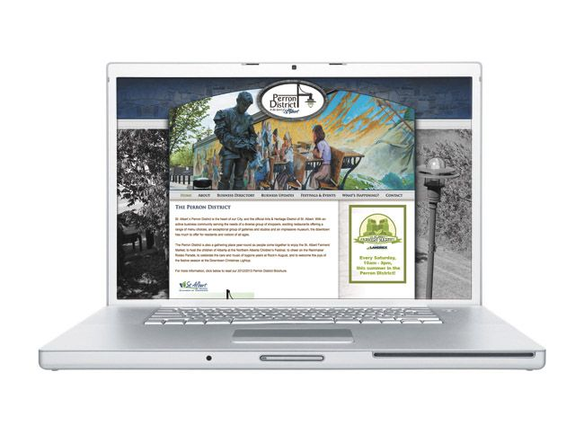 New site for St. Albert's Perron District is now up and running.