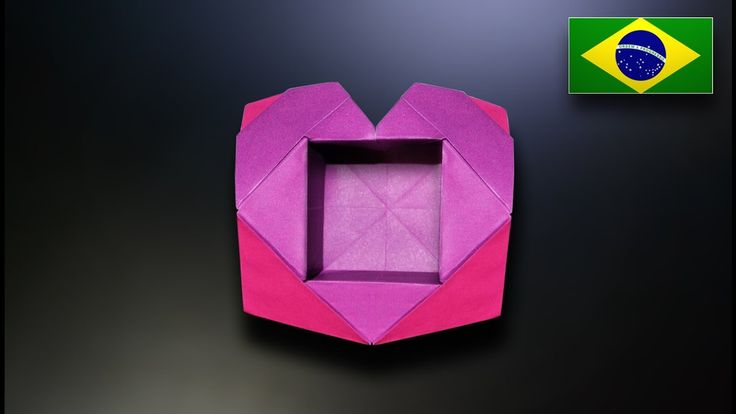 Origami: Caixa de Coração - Instruções em Português PT-BR