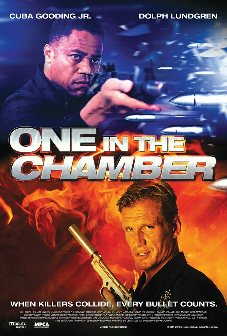 Poster design for action movie One In The Chamber, starring Cuba Gooding Jr. and Dolph Lundgren #action #suspense #film #filmposter #dolphlundgren #cubagoodingjr