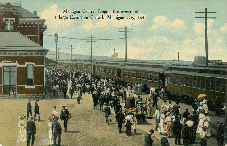 Michigan Central Depot, 1911 - Michigan City, Indiana | !