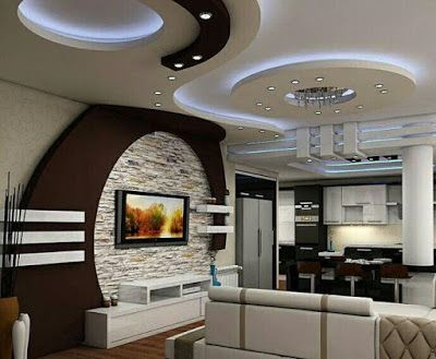 Latest gypsum board designs for false ceilings for hall - Latest ceiling design for living room ...
