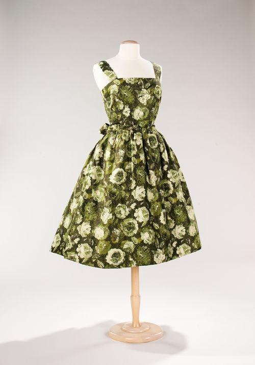 Christian Dior dress ca. 1956 via The Costume Institute of the Metropolitan…
