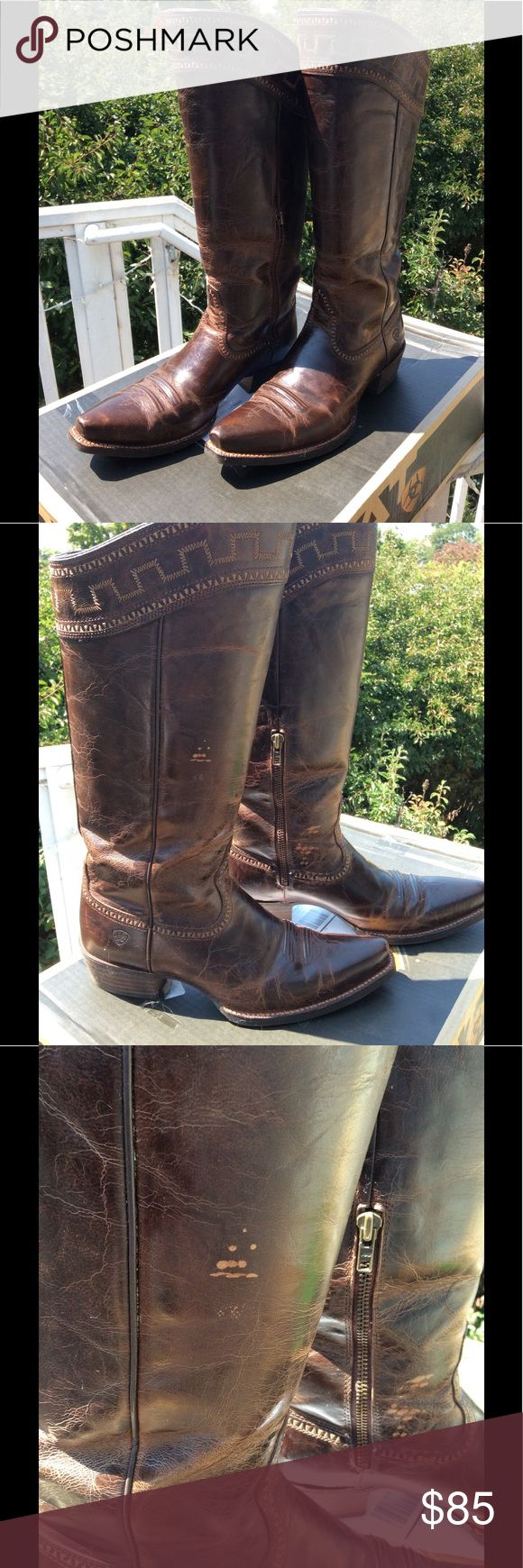 Ariat Sahara Cowboy Boots Size 11B Ariat Sahara Boots Size 11 B worn 3 times, minor scuffs and blemishes Ariat Shoes Heeled Boots