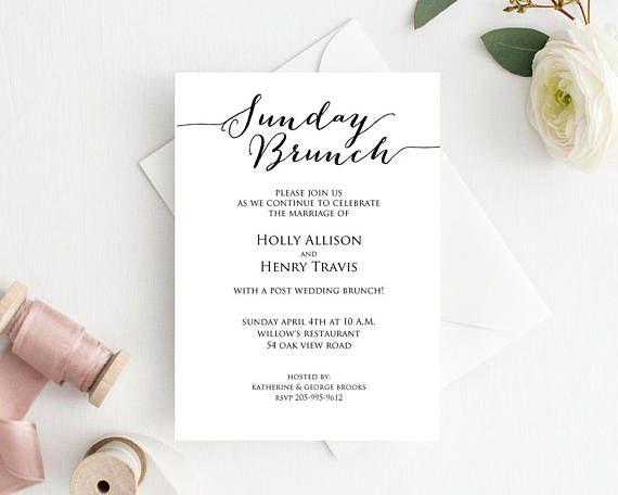 sunday brunch wedding brunch invitation wedding brunch invite