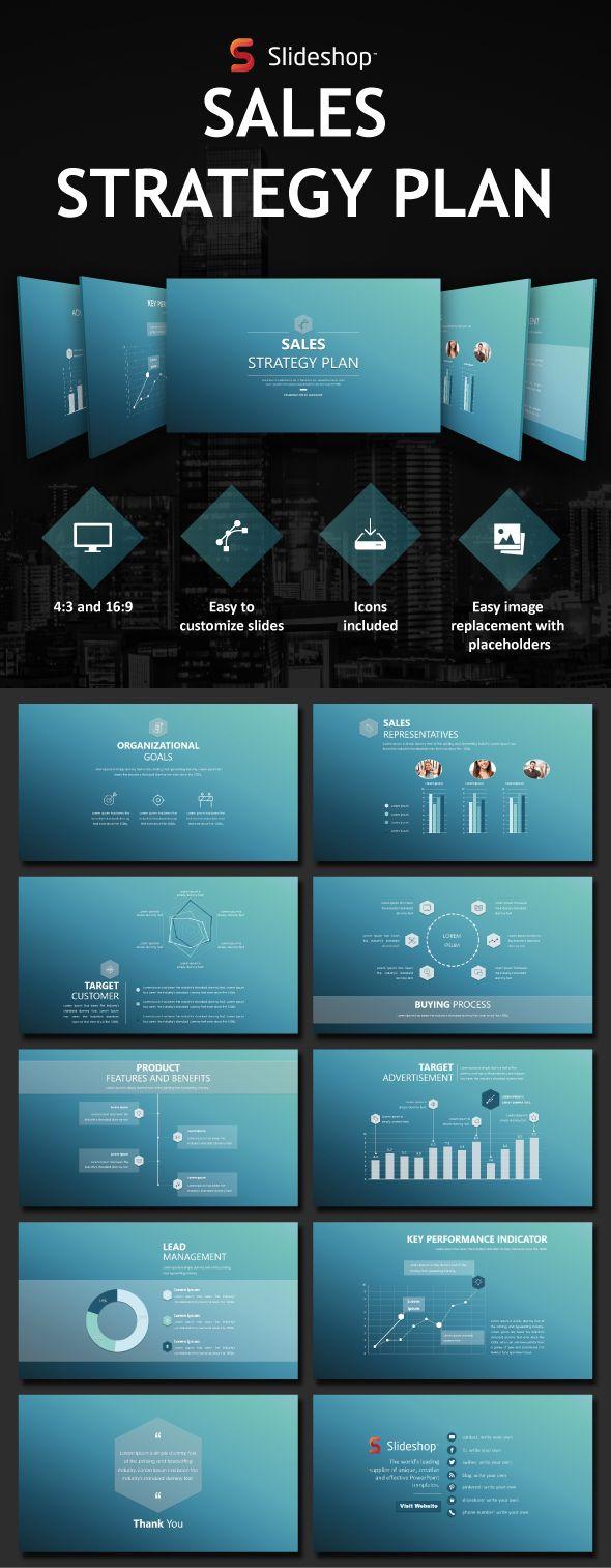 Sales Strategy Plan - PowerPoint Templates #Presentation #Templates Download here:https://graphicriver.net/item/sales-strategy-plan/19760136?ref=alena994