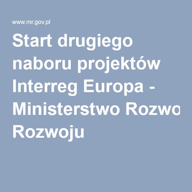 Start drugiego naboru projektów Interreg Europa - Ministerstwo Rozwoju