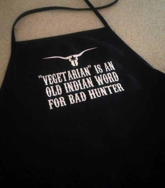 Funny Apron Vegetarian is an Old Indian Word for by SaltedHeart, $26.95