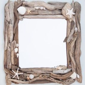 Driftwood & Sea shell mirror by Driftwood Dreaming £50 plus P