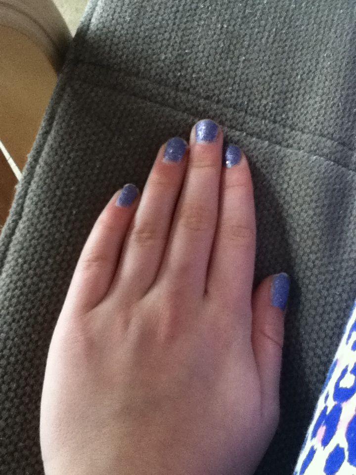Mooi paarse nagels